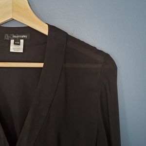 Alvin Valley Silk Blouse Black Size 4